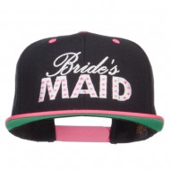 Bridesmaid Embroidered Two Tone Snapback - Black Pink