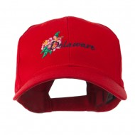 USA State Flower Delaware Peach Blossom Embroidered Cap - Red