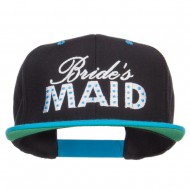 Bridesmaid Embroidered Two Tone Snapback - Black Teal