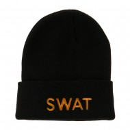 Military Embroidered Beanie - SWAT