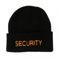 Military Embroidered Beanie - Security