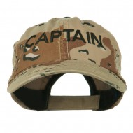 Captain Embroidered Enzyme Washed Camo Cap - Desert