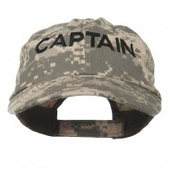Captain Embroidered Enzyme Washed Camo Cap - Digital Camo