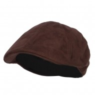 Suede Duck Bill Ivy Hat - Brown