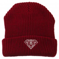 Diamond Embroidered Watch Cap - Red