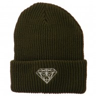 Diamond Embroidered Watch Cap - Olive