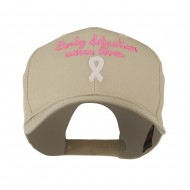 Early Detection Saves Lives Embroidered Cap - Khaki