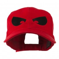 Halloween Huge Eyes Embroidered Cap - Red
