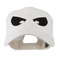 Halloween Huge Eyes Embroidered Cap - White
