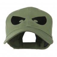 Halloween Huge Eyes Embroidered Cap - Olive