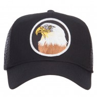 Eagle Military Patched Mesh Cap - Black