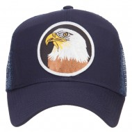 Eagle Military Patched Mesh Cap - Navy