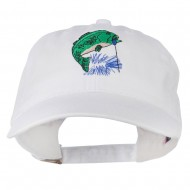 Bass Fishing Embroidered Washed Cap - White