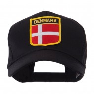 Europe Flag Shield Patch Cap - Denmark