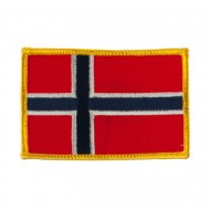 Europe Flag Embroidered Patches - Norway