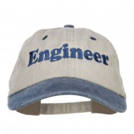 Engineer Embroidered Washed Cap - Beige Navy