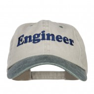Engineer Embroidered Washed Cap - Beige Green