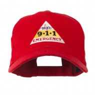 911 Emergency Logo Embroidery Cap - Red