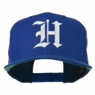 Old English H Embroidered Flat Bill Cap - Royal