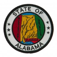 Eastern State Seal Embroidered Patch - Alabama