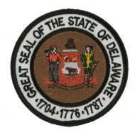 Eastern State Seal Embroidered Patch - Delaware
