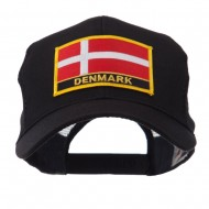 Europe Flag Letter Patched Mesh Cap - Denmark