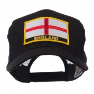Europe Flag Letter Patched Mesh Cap - England