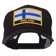 Europe Flag Letter Patched Mesh Cap - Finland