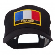 Europe Flag Letter Patched Mesh Cap - France