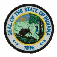 Eastern State Seal Embroidered Patch - Indiana