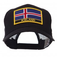 Europe Flag Letter Patched Mesh Cap - Iceland