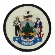 Eastern State Seal Embroidered Patch - Maine