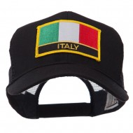 Europe Flag Letter Patched Mesh Cap - Italy