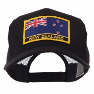 Europe Flag Letter Patched Mesh Cap - New Zealand