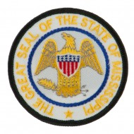 Eastern State Seal Embroidered Patch - Mississippi
