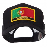 Europe Flag Letter Patched Mesh Cap - Portugal