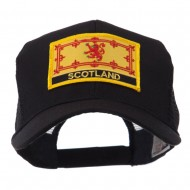 Europe Flag Letter Patched Mesh Cap - Scotland