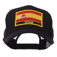 Europe Flag Letter Patched Mesh Cap - Spain