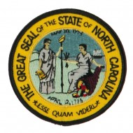 Eastern State Seal Embroidered Patch - North Carolina