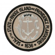 Eastern State Seal Embroidered Patch - Rhode Island