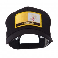 Europe Flag Letter Patched Mesh Cap - Vatican