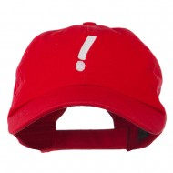 Exclamation Point Embroidered Cap - Red