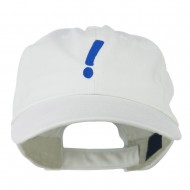 Exclamation Point Embroidered Cap - White