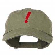 Exclamation Point Embroidered Cap - Olive