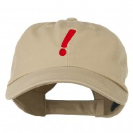 Exclamation Point Embroidered Cap - Khaki
