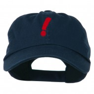 Exclamation Point Embroidered Cap - Navy