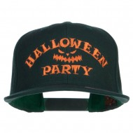 Halloween Party Embroidered Snapback Cap - Spruce