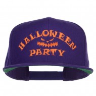 Halloween Party Embroidered Snapback Cap - Purple