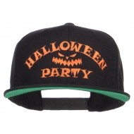 Halloween Party Embroidered Snapback Cap - Black