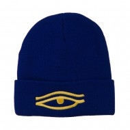 Eye That Sees All Embroidered Long Beanie - Royal
